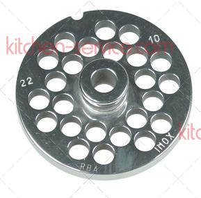 Решетка Enterprise 22 ячейка 10 мм для мясорубки FAMA, FIMAR, EVEREST, SIRMAN, MAINCA, KOLBE, KT