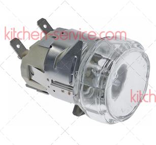 Лампа в комплекте VE1480A0, KVE1480A0 галогеновая для печи UNOX. 230V-25W LAMP SET
