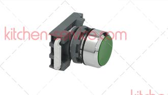 Выключатель нажимной зеленый 22 мм для COMENDA (130413)