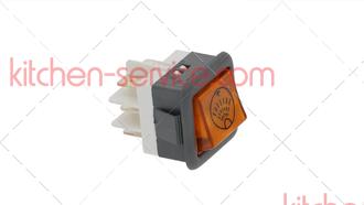 Выключатель балансирный кнопочный 250В 16A для COMENDA (130422)