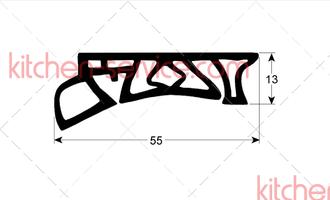 Уплотнение 24.00.187 стеклянной панели-тележка SCC, CM 201
